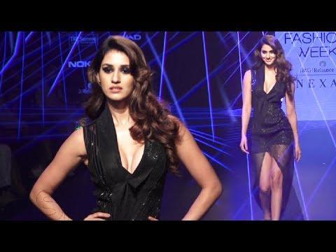Disha Patani Hot Ramp Walk At Lakme Fashion Week 2018