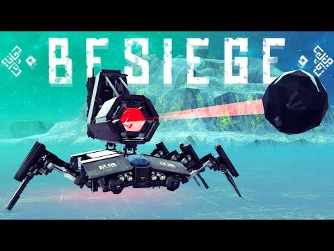 Besiege - A Fully Destructible Minecraft Map - Spider Tank & More! - Best Besiege Creations