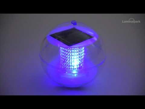 Solar Schwimmkugel Ø 11,5 cm, LED RGB (Code 35447)