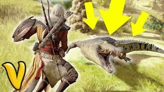 ASSASSIN'S CREED ORIGINS CROCODILE HUNTER! Assassins Creed Origins NEW Gameplay!