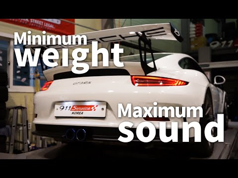 Porsche 991.1 GT3RS with iPE Titanium Exhaust system X Dtoz Performance, 991 Service Korea