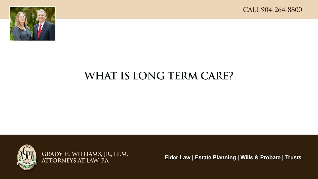 Video - What is long term care?