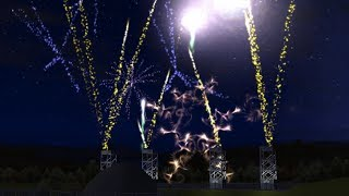 """RCT3 - """"Parkaliki"""" Fireworks/Mixmaster show (Lights Are Out - Approaching Nirvana)"""