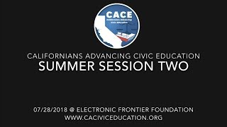 CACE Summer 2018 Session 2