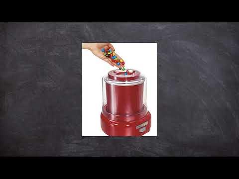 , Hamilton Beach Ice Cream Maker, 1.5-Quart, Red (68881Z)