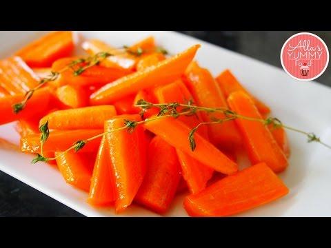 Glazed Carrots Recipe   Глазированная морковь