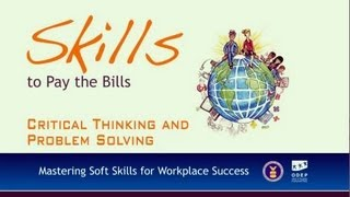 Soft Skills--Critical Thinking And Problem Solving