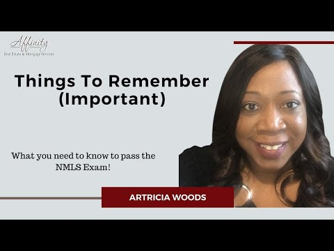 Passing the NMLS Exam - Things To Remember - YouTube