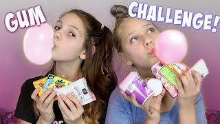 Bubble Gum Challenge! Annie and Hope