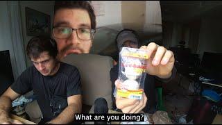 Ethan eats a Hoagie