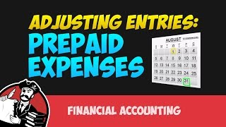Adjusting Entries for Prepaid Expenses (Financial Accounting Tutorial #20)