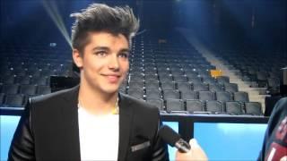 """Melodifestivalen 2013: Anton Ewald Interview """"Begging"""" (2013-03-08)"""