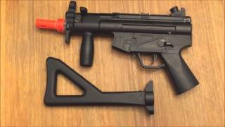 Review Of The WELL MP5 PDW Scope Spring Airsoft Rifle