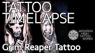 TATTOO TIMELAPSE-Grim Reaper Tattoo/タトゥータイムラプス-死神のタトゥー