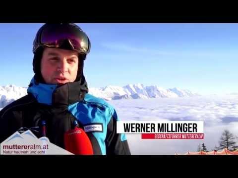 Skifahren auf der Muttereralm