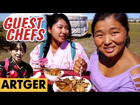 Mongolian Herders Try Japanese Food For The First Time | Guest Chefs