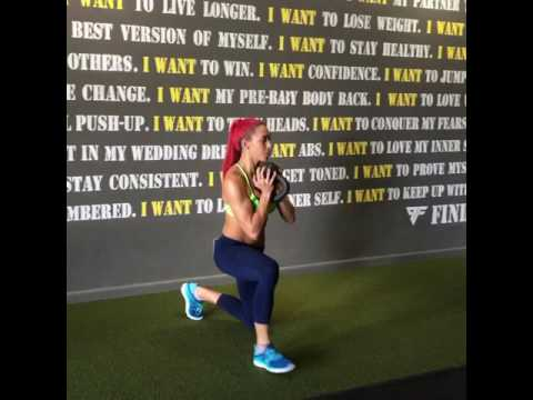 Jumping Knee Up Down with Kettlebell