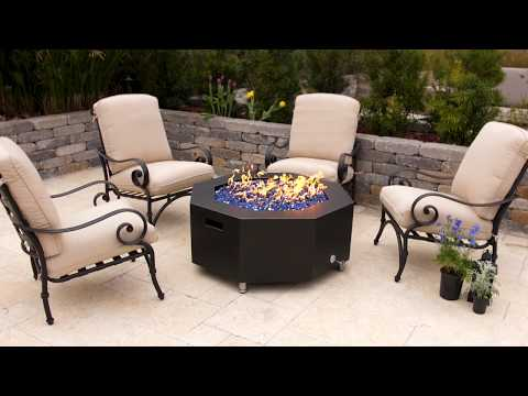 Lakeview Outdoor Designs 42-Inch Oil Rubbed Bronze Octagonal Fire Pit