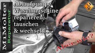 Ablaufpumpe Waschmaschine reparieren, tauschen & wechseln....