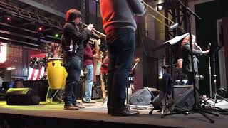 Laura Yara , Milenio salsa band 4th street live Louisville KY