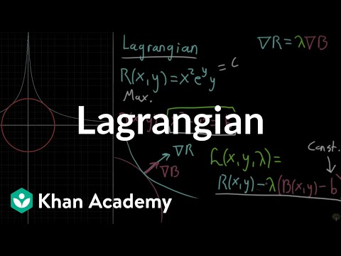 The Lagrangian (video) | Khan Academy