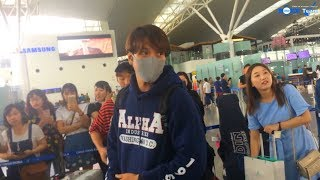 (Fancam)(21.9.2017) Yonghwa @ Noi Bai International Airport, Back To Korea