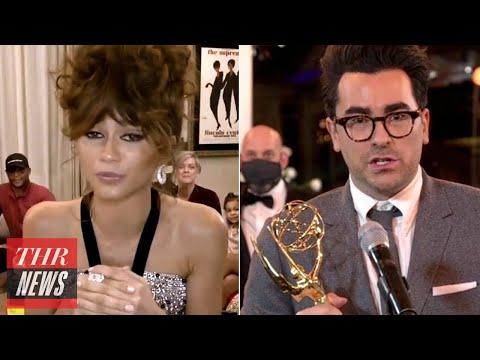 Top Emmys Moments: Zendaya and 'Schitt's Creek' Make History, Stars Get Political & More | THR News