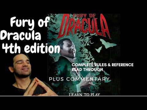 The Fury of Dracula 4th Edition | Complete Rules AND Reference Read Through + Commentaries