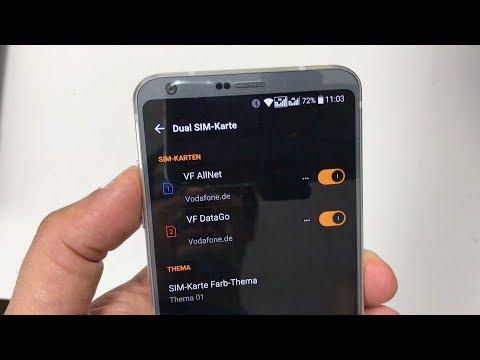 LG G6 DS: Dual-SIM Menü und Funktionen