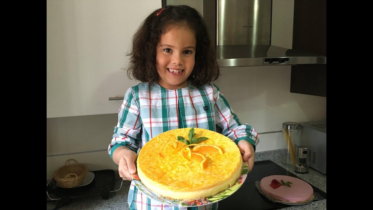 Cómo mi niñ@ hace una tarta de naranja en 5 minutos.