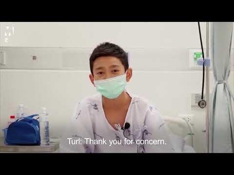 El conmovedor mensaje de los niños tailandeses rescatados