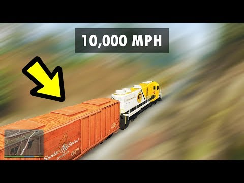 GTA 5 - 10,000MPH Train Vs. EVERYTHING!! (Incredible)