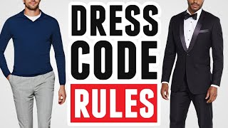 EASY Dress Code Guide (Simple Tutorial) Clothing Etiquette Rules & Dress Codes For Men
