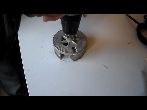 Untertisch Steckdose einbauen und anschließen für Küche - Küchenplatte bohren