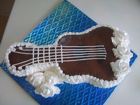 Мастер-класс приготовления торта в виде гитары