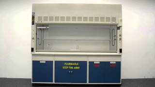 8′ Fisher Hamilton Safeaire Laboratory Fume Hood with Flammable / Acid Cabinet w/ Sink