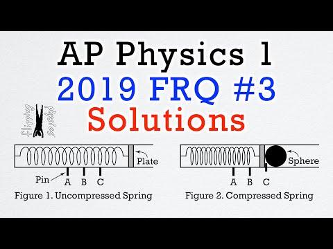 2019 #3 Free Response Question - AP Physics 1 - Exam Solution ...