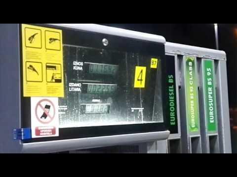 Der Preis für das Benzin auf wok