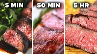 5-Minute Vs. 50-Minute Vs. 5-Hour Steak • Tasty