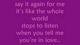 Say It Again - Marie Digby [song  lyrics]