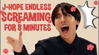 J-Hope Endless Screaming for 8 minutes #ARMYsHOPE
