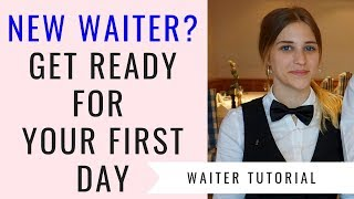 New waitress/waiter training! F&B Service for beginners! First day as a waitress. Food and Beverage!