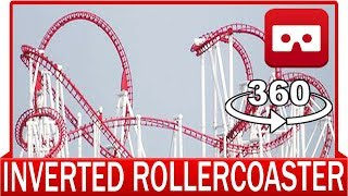 360° VR VIDEO - EXTREME Inverted Roller Coaster Mirage Rosso POV Fabbri Front Seat