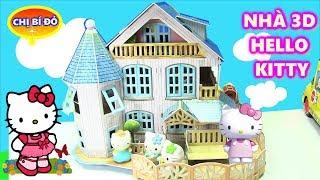 ĐỒ CHƠI NGÔI NHÀ 3D CỦA HELLO KITTY - TIỆC MỪNG NHÀ MỚI CỦA GIA ĐÌNH HELLO KITTY PUZZEL 3D HOUSE
