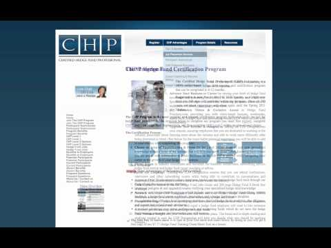 Certified Hedge Fund Professional (CHP) - YouTube