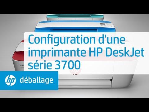 Configuration d'une imprimante HP DeskJet série 3700