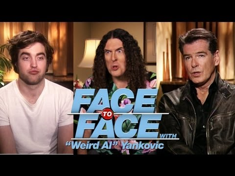 "ROBERT PATTINSON & PIERCE BROSNAN go Face to Face with ""Weird Al"" Yankovic"