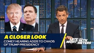 Comey Hearing Adds to Chaos of Trump Presidency: A Closer Look