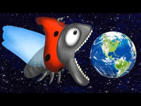 БОЖЬЯ КОРОВКА съела планету Земля. ИГРА Tasty Planet Forever #4 на Игрули TV