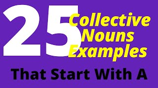 25 Collective Nouns Examples List That Start With A